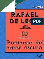 Romance Del Amor Oscuro - Rafael de Leon