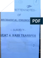 Heat and Mass Transfer GATE Notes