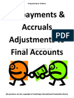 Igcse Accounting Prepayments Accruals