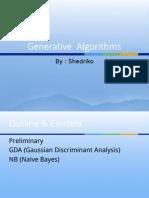 3. Generative Algorithms, Machine Learnig