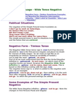 5 Simple Present Negative