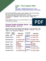 6 the Irregular Wide Tense Verb List