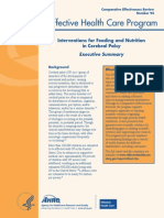 Cerebral Palsy Feeding Nutrition Executive 130318