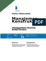 FModul 3 Manajemen Proyek Konstruksi