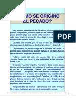 4) ¿CÓMO SE ORIGINÓ EL PECADO?