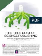 2013 El costo de la publicación cientifica Nature