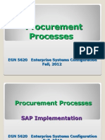 EGN 5620 Enterprise Sys Procurement Process Fall 2012