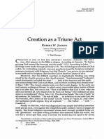 Creation as a Triune Act