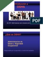 Introduccion a La Organizacion OSHA