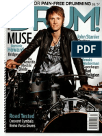 Drum Magazine Cover Feature Muse March 2013 Issue 1363035023224