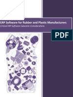 ERP for Rubber and Plastic Manufacturing - Software Selection Guide
