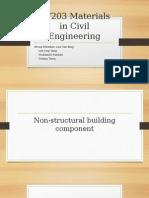 Presentation of  Materials in Civil Engineering