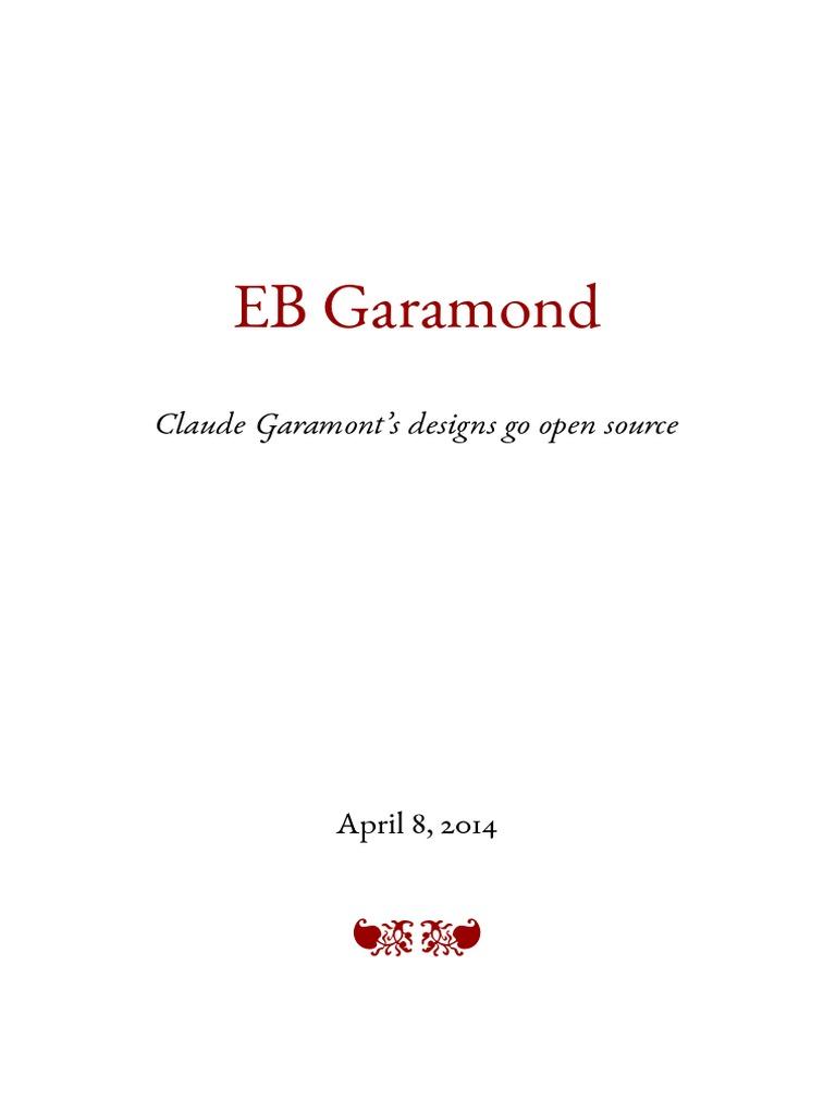 EB Garamond Specimen
