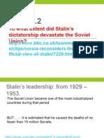 2015 Economic Impact Stalin Policies