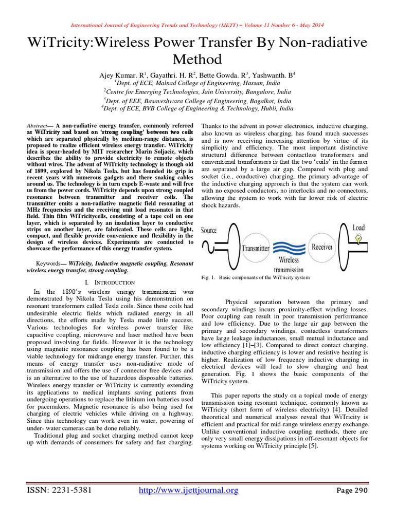 witricity pdf | Inductor | Transformer