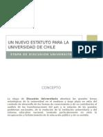 Un nuevo estatuto para la Universidad de Chile