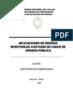 Aplicacion de diseños de estudios muestrales a casos de opinion publica