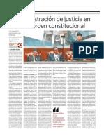 La administración de justicia en el nuevo orden constitucional