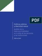 Políticas públicas y diversidad sexual Análisis de la heteronormatividad en la vida de las personas y las instituciones