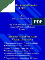 Akut Abdomen Obstruksi - dr.Asril Zahari, SpB(K)BD.
