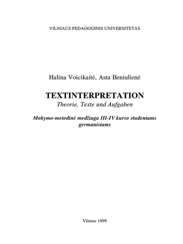 BENIUL Textinterpritation