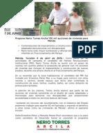 06-04-2015 Propone Nerio Torres Arcila 100 mil acciones de vivienda para Mérida