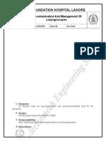 32 Decontamination and Management of Laryngoscopes.