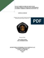 Perencanaan Jaringan Irigasi Air Tanah Pada Daerah Oncoran SDMJ 571 Kabupaten Mojokerto Dengan Sistem Looping Terbuka Program EPANET 2.0 Mona Shinta Safitri 105060403111004