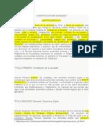 Constitucion Sociedad Anonima Cerrada, Contrato Gerente, Sii