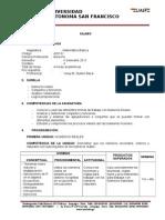 Silabo de Matematica Basica - Derecho