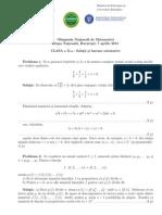Subiecte şi soluţii Olimpiada Naţională de Matematică Clasa a X-a
