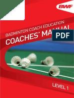 BWF Coaches Manual Level 1