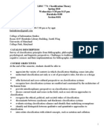 Classification Theory syllabus