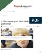 Tips Menangani Anak Naka..