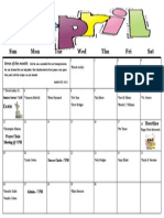 Apr 15 Calendar