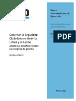 Gobernar La Seguridad Ciudadana en América Latina y El Caribe