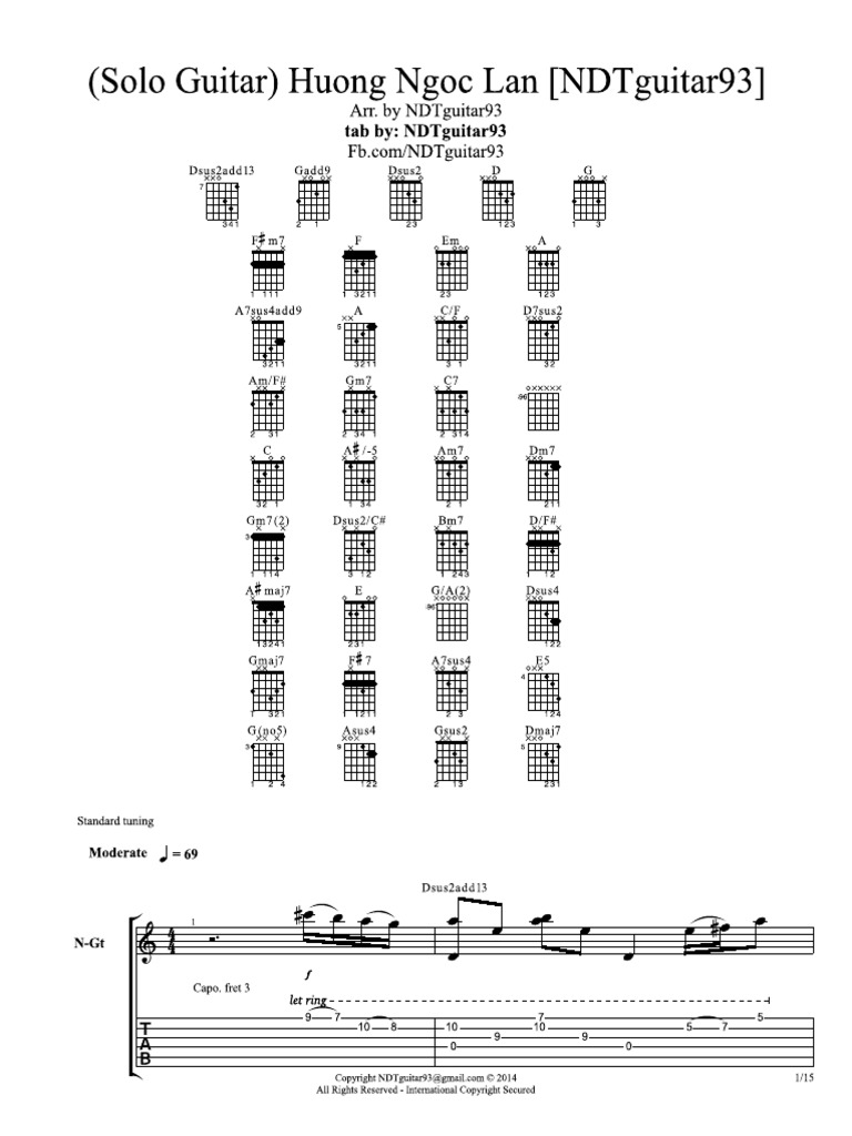 Untitled guitar solo tab