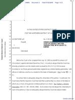 Accenture, LLP v. Niu - Document No. 3