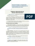 Poderes Administrativos - Tecnolegis - Com Exemplos