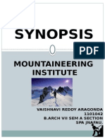 Synopsis - mountaineering institute