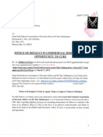 Notice of Default Against RV Bey Publications