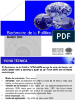 Barómetro de La Política CERC MORI Marzo 2015