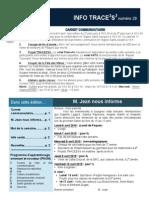 Info-TRACEESS Numéro 29, le 7 Avril 2015