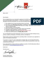 2015 Woodward Visual Arts Scholarship Application