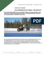 Nokian-Reifen fahren Weltrekord mit Traktor