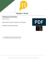 FOX (2012) Teaching (is Not) Activism - Radical Teacher