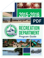 Brick Township Recreation Department 2015-2016 Program Guide