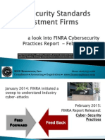 CyberSecurity - Review of FINRA 2015 Report
