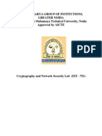 Cryptography Network Security Lab File
