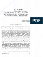 Historia social hispanoamericano de los siglos XVIII y XIX